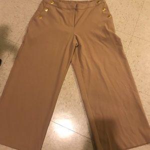 Camel high waisted dress pants